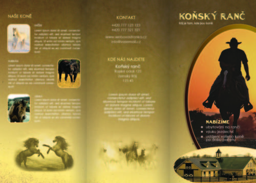 Koňský ranč 1 - vnější str. 210x297mm, 5mm okraj